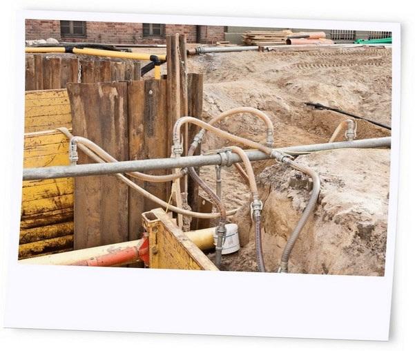 Grundwasserabsenkung bei weichen strukturschwachen Untergründen